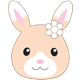 Sylvanian Families Wildflower Rabbit Illustration