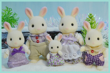 A Collection of Sylvanian Families and Calico Critters Figures